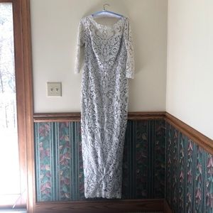 Mother of the Bride Dress Size 14 Silver Dress